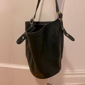 Coach black bucket bag!